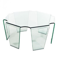 Zuo Modern Clear Glass Circuit Coffee Table 404083