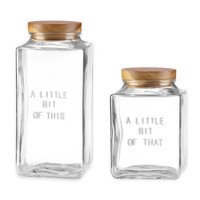 kate spade new york All In Good Taste Glass Canisters