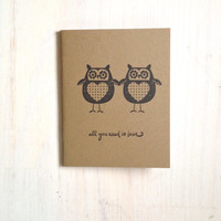 Medium Notebook: Cute, Owls, Brown, Owl, Love, Wedding, Valentine's Day, Romantic, Journal, Kids, For Her, For Him, Unique, Gift, Notebook