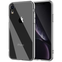 Tempered Glass Case for iPhone XR Clear TPU Bumper