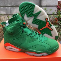 Air Jordan 6 Gatorade Men Basketball Shoes 6S Green Suede Sports Sneakers