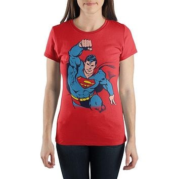 Superman In Flight Flying T-shirt Tee Shirt