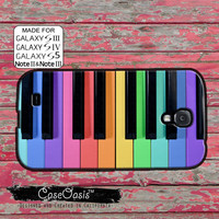 Piano Keys Rainbow Colorful Cute Music Tumblr Inspired Custom Galaxy S5 and S4 and S3 Case and Galaxy Note 2 and Note 3 Case