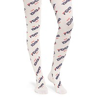 Fendi X Fila Mania Logo Tights