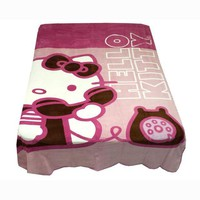 DCCKH0D Hello Kitty Twin Blanket Ring Ring Telephone Bedding Cover