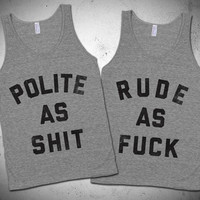 Polite And Rude BFF Tanks