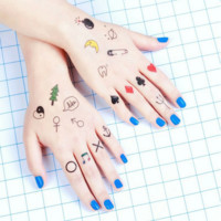 Tattoo Stickers: Mini Treasures (19 patterns)