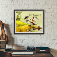 Calvin and Hobbes Poster Print, room decor, kids room art, tiger, bill waterson
