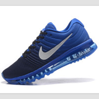 """""""NIKE"""" Trending Fashion Casual Sports Shoes AirMax section Blue white soles"""