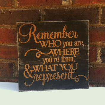 Distressed Sign Quote Wood Block Home Decor Office Studio Dorm Nursery