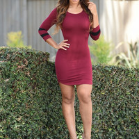 Homerun Dress - Burgundy