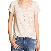 Banana Republic Womens Factory Cuffed Sleeve Tee