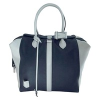 LOUIS VUITTON Suship North South Speedy in White and Blue Calfskin Leather Bag