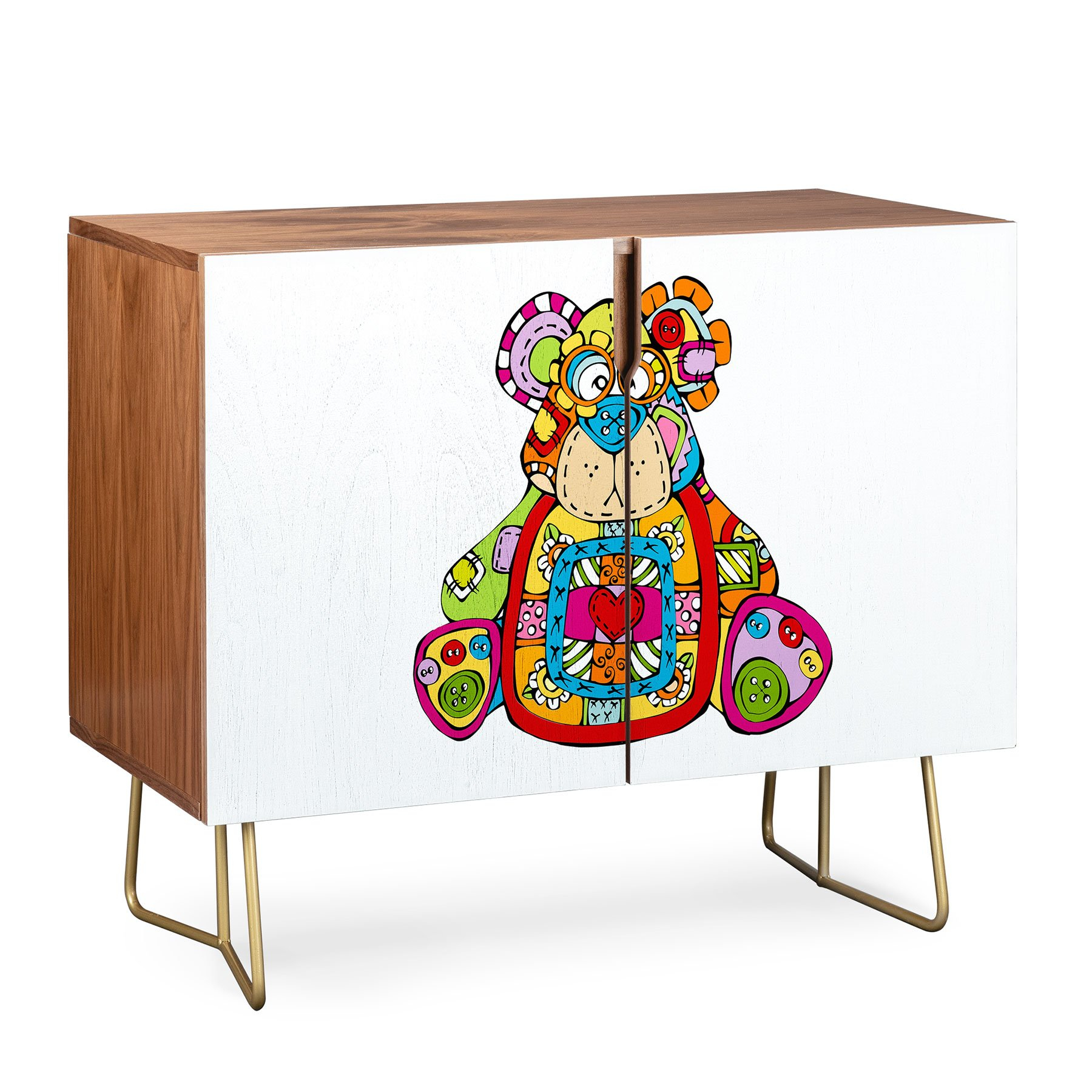 Image of Angry Squirrel Studio BEAR Button Nose Buddies Credenza