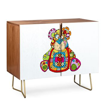 Angry Squirrel Studio BEAR Button Nose Buddies Credenza