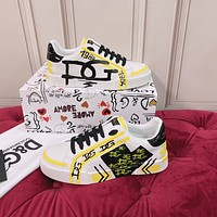 DOLCE & GABBANA 2021Men Fashion Boots fashionable Casual leather Breathable Sneakers Running Shoes08260qh
