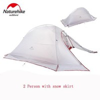NH high quality 2person double layers four-season rainproof waterproof camping outdoor tent with a snow skirt