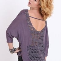 In the Open Crochet Back Top - $29.00 : ThreadSence.com, Your Spot For Indie Clothing  Indie Urban Culture