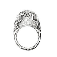 House of Harlow 1960 Jewelry Zig Zag Stacking Ring