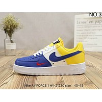 NIKE Air FORCE 1 trendy mixed-color casual high quality retro shoes F-A36H-MY NO.3