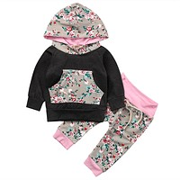 Autumn born baby boy clothes Baby Girl Clothes Hoodie Sweatshirt Tops + Pants newborn toddlers baby clothing set