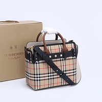 Burberry Women Leather Shoulder Bags Satchel Tote Bag Handbag Shopping Leather Tote Crossbody