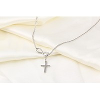 Fashion good luck number 8 cross short necklace necklace chain necklace