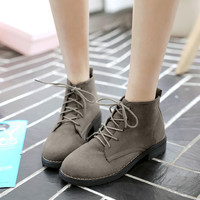 Hot Deal On Sale Winter Korean Thick Crust High-top England Style Shoes Dr. Martens Cotton Boots [8865349836]