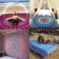Indian Mandala Tapestry Wall Hanging Boho Beach Throw Towel Hippie Yoga Mat Blanket Table Cloth Bedding Home Decor 210x150cm
