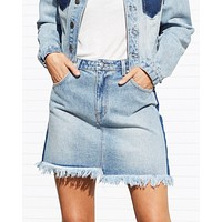 Final Sale - MINKPINK - Highlight Denim Mini Skirt