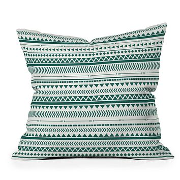 Allyson Johnson Teal Aztec Throw Pillow