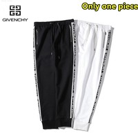 Givenchy fashion casual zipper ribbon section cotton trousers