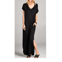 Maxi Dress with Side Pockets