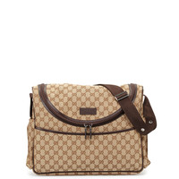 Travel GG Canvas Diaper Bag w/ Changing Pad - Gucci