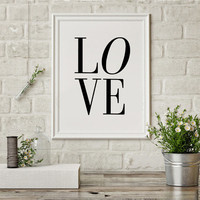 Typography Poster, Word Art, Wall Words, Love Sign, I Love You, Typography Printable, Love Letters Fashion Print Fashionista Printable Art