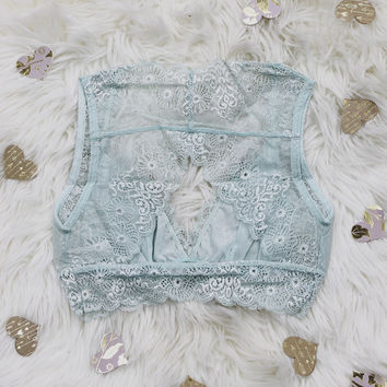 French Connection Bralette - Seafoam