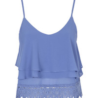 **Lace Cropped Cami Top by Glamorous - New In
