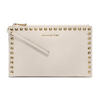 MICHAEL Michael Kors  Large Selma Studded Saffiano Clutch