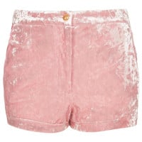 Petite Crushed Velvet Shorts - New In This Week  - New In