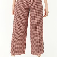 Multicolor Houndstooth Palazzo Pants