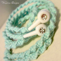 Wrapped Earbuds / Tangle Free Headphones  by WraptureDesigns