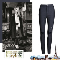 Hot Sale High Waist Skinny Pants Jeans = 4815088836