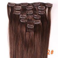 """20"""" Full Head Clip in Remy 100% Human Hair Extensions Christmas Gift Wedding freeshipping PICK COLOR WGA"""