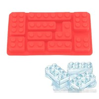 Silicone Bricks Ice Cube Tray Building Bricks Chocolate Candy Soap Mold Kids Toy Set