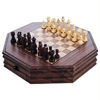Trademark Games  Octagonal Chess and Checkers Set