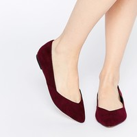 ASOS LUCY Wide Fit Ballet Flats