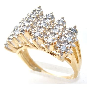 Diamond Ring 14K Gold Size 7 Vintage