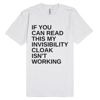 Invisible-Unisex White T-Shirt
