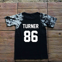 Alex Turner Arctic Monkeys Tie dye Shirt Tye Dye Shirt Black Shirt