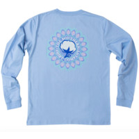 Southern Shirt Company Mandala Logo Long Sleeve Tee- Grape Mist